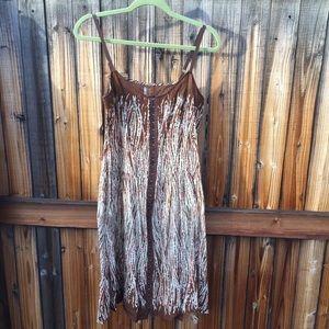 Free People brown print dress